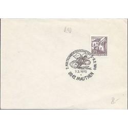 E)1970 AUSTRIA, SKI, SKIER, HOUSE, TOWN, MARCOPHILIA