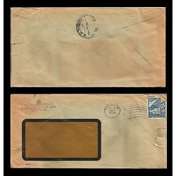 E)1947 CZECHOSLOVAKIA, CIRCULATED COVER CHECK REPUBLIC WINDOW ENVELOPE TO MEXICO