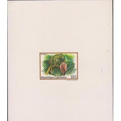 O) 1984 GABON, PROOF, PAINTING, BANANA TREE, XF