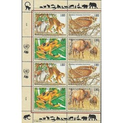 O) 1995 UNITED NATIONS - GENEVA, ANIMALS IN DANGER OF EXTINCTION, FROG - ATELOPU