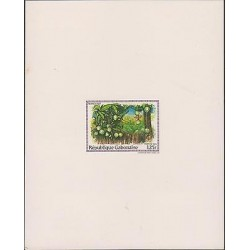 O) 1984 GABON, PROOF, PAINTING PLANTATION, MANGIFERA, TREE,