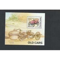 O) 1997 SOMALIA, OLD CARS 1900, SOUVENIR MNH