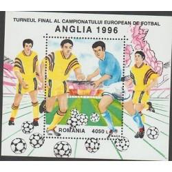 RO) 1996 ROMANIA, EUROPEAN FOOTBALL CHAMPIONSHIP ANGLIA 1996, SOUVENIR MNH