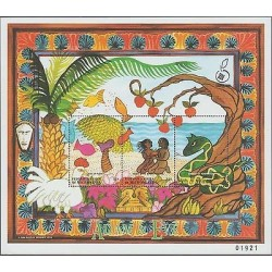 O) 1998 MICRONESIA, PAINTING ADAM AND EVE, TERRENAL.PARADISE, SOUVENIR MNH