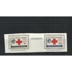 O) 1963 ASCENSION, RED CROSS CENTENARY 1863 TO 1963, QUEEN ELIZABETH II, MNH