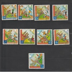 O) 1974 GUINEA, MUNICH WORLD CUP 1974 - FOOTBALL, SET CTO MNH, SLIGHT TONED