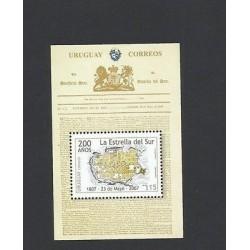O) 2007 URUGUAY, BRITISH INVASIONS - REVOLUTION PRINT, SOUTH STAR - MAP, SOUVENI