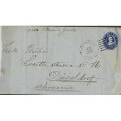 O) 1912 PANAMA, 5 CENTESIMOS, POSTAL STATIONARY TO GERMANY, XF