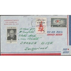 O) 1965 UNITED STATES, RED CROSS, CRUSADE AGAINST CANCER, WINSTON CHURCHILL, COV