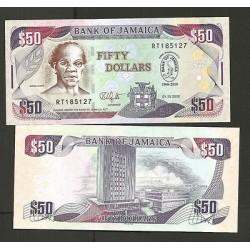 O) 2010 JAMAICA, BANKNOTE, 50 DOLLARS-SAMUEL SHARPE-SAM, BANK OF JAMAICA