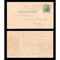 E)1919 USA, ONE CENT JEFFERSON, CIRCULAR CANC. WASHINGTON DC, TO AUSTIN