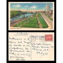 E)1937 USA, TWO CENTS WASHINGTON, CIRCULAR ANOKA CANC.KELLOGG BOULEVARD LOOKING