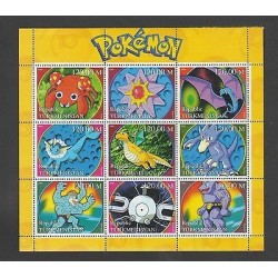 O) 2000 TURKMENISTAN, ANIMATED CARTOONS - POKEMON, MONSTERS - MYTHICAL CREATURES