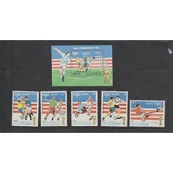 O) 1992 CAMBODIA, SOCCER WORLD CUP SAN FRANCISCO 1994 - FOOTBALL, SET MNH