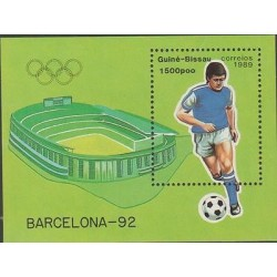 O) 1989 GUINEA, OLYMPIC GAMES BARCELONA 1989, SOUVENIR MNH