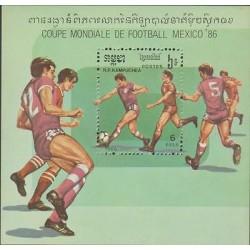 O) 1986 CAMBODIA, WORLD CUPS SOCCER MEXICO 1986 .- FOOTBALL, SOUVENIR SLIGHT TO