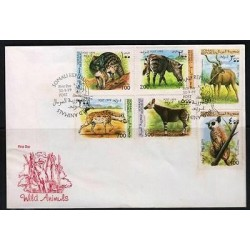 rO)1999 SOMALI REPUBLIC, ANIMALS, WILD, FDC XF