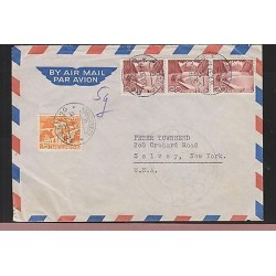 O) 1957 SWITZERLAND, PORT GRIMSEL, VIADUCT SAINT GALLEN, COVER TO UNITED STATES