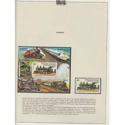 O) 1985 DJIBOUTI, LOCOMOTIVE - TRAIN MACHINE 1913, GORDON HIGLANDER, ROCKET, MNH