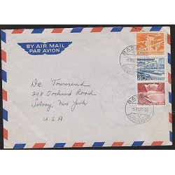 O) 1953 SWITZERLAND, , PORT GRIMSEL, VIADUCT SAINT GALLEN, BRIDGE,COVER TO UNIT