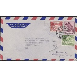 O) 1952 SWITZERLAND, PORT SAINT GALLEN, GAME KENDO, TRAIN, COVER TO UNITED STATE