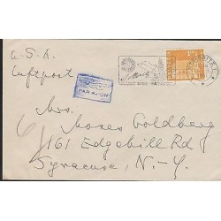 O) 1961 SWITZERLAND, ARCHITECTURE - CHURCH, COVER TO NEW YORK - USA, XF