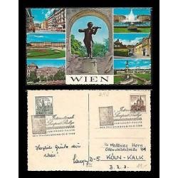 E)1966 AUSTRIA, JOHANN STRAUS- COMPOSER, CITIES, CASTLES, POSTCARD
