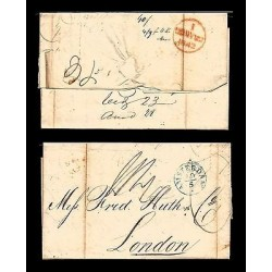 E)1842 NETHERLANDS, MARITIME MAIL, COVER FROM AMSTERDAM TO LONDON