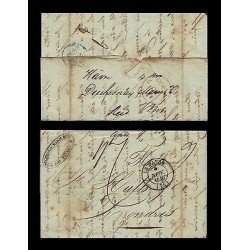 E)1874 FRANCE, MARITIME MAIL, CIRCULATED COVER FROM FRANCE TO LONDON