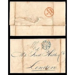 E)1849 NETHERLAND, MARITIME MAIL, CIRCULATED COVER TO LONDON