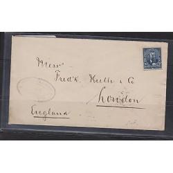 O) 1901 PUERTO RICO, SUCESOR DE A.J. ALCALDE, MANUSCRIPT CANCEL - 5 CENTS BLUE,