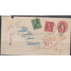 O) 1902 PUERTO RICO, US OCCUPATION IN PUERTO RICO, POSTAL STAT WITH UPRATED, 1 C