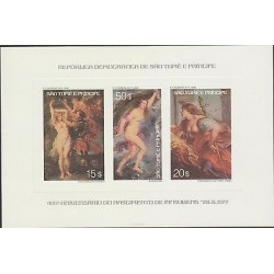 O) 1976 SAO TOME AND PRINCIPE, PROOF, PAINTING RUBENS, ANDROMEDA AND PERSEUS, FO