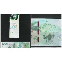 O) 2016 COLOMBIA, BANKNOTE 100 MIL PESOS, TACTIL READING - BRAILLE, WAX PALM TRE