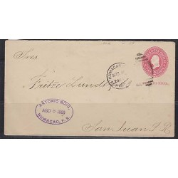 o) 1900 PUERTO RICO, US OCCUPATION IN PUERTO RICO, POSTAL STATIONARY - 2 CENTS,