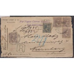 O) 1894 PUERTO RICO, SPANISH DOMINION, POR VAPOR CORREO ESPAÑOL VIA CAPITAL, MUL