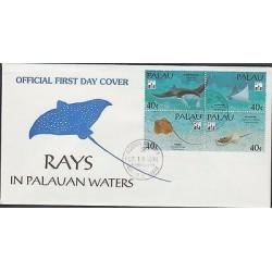 O) 1994 PALAU, FISH, RAYS, FDC XF