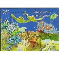 o) 2013 NEW CALEDONIA - FRENCH COLONIES, FAUNA MARINA POLYNESIA, SOUVENIR MNH