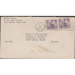 O) 1955 PANAMA - CANAL ZONE, TRAIN - RAILROAD, COVER TO UNITED STATES, XF
