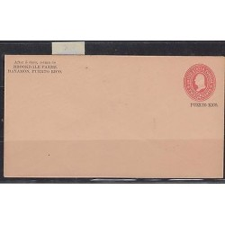 O) 1900 PUERTO RICO, US OCCUPATION IN PUERTO RICO, POSTAL STATIONARY N°17- 2 CE