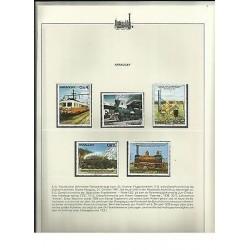 O) 1980 PARAGUAY, LOCOMOTIVE ROCKET 1829, ELECTRIC RAILWAY, STEAM LOCOMOTIVE 183