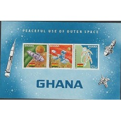 O) 1967 GHANA, SPACE, SATELLITE, PEACEFUL USE OF OUTER SPACE, MNH