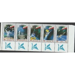 O) 2010 PAKISTAN, SPACE TECHNOLOGY DAY, SATELLITE, FLAG, SET MNH