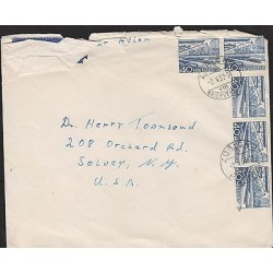 O) 1952 SWITZERLAND, RHINE HARBOUR, LANSCAPES, COVER TO NEW YORK - USA, V