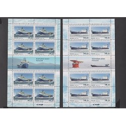 O) 2013 RUSSIA, NAVAL SHIPS, MINI SHEET, SET MNH