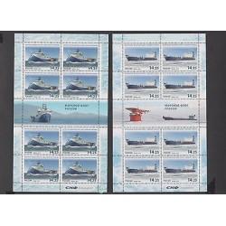 O) 2013 RUSSIA, NAVAL SHIPS, MINI SHEET, SET MNH