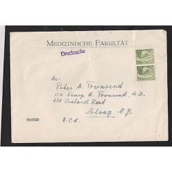 O) 1957 SWITZERLAND, TRAIN, COVER TO UNITED STATES - USA, XF