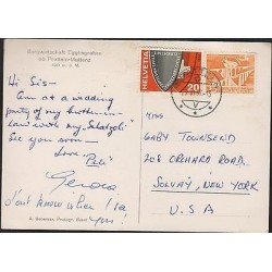 O) 1957 SWITZERLAND, POSTAL CARD OF PRATTELN, CIVIL PROTECTION, VIADUCT SAINT GA