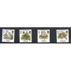 G)1986 GREAT BRITAIN, BARN OWL-PINE MARTEN-WILD CAT-NATTERJACK TOAD, NATURE CONS