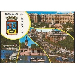 E)1980 SPAIN, SOUVENIR OF MADRID, TOURISM, POSTCARD